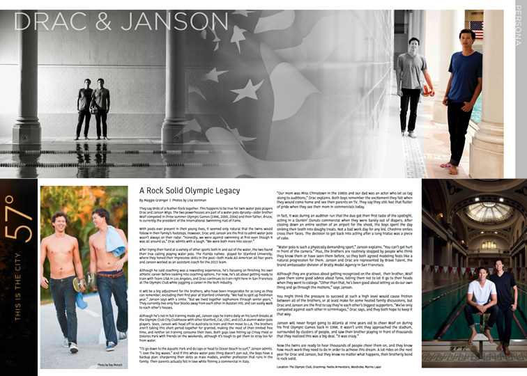 Drac And Janson Wigo 57° Magazine Brave Talent Agency