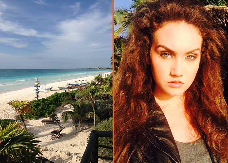 Kaitlyn Tapp shooting editorials in Mexico