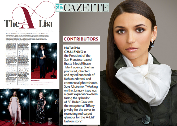 Natasha Chalenko Collaborates as a Style Director for Nob Hill Gazette