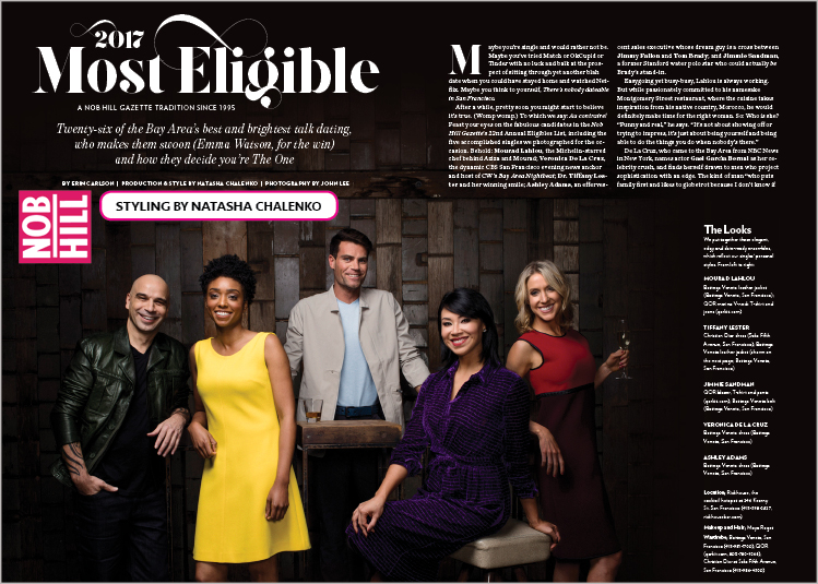 "Jimmie Sandman in the prestigious ""Eligibles"" Editorial"