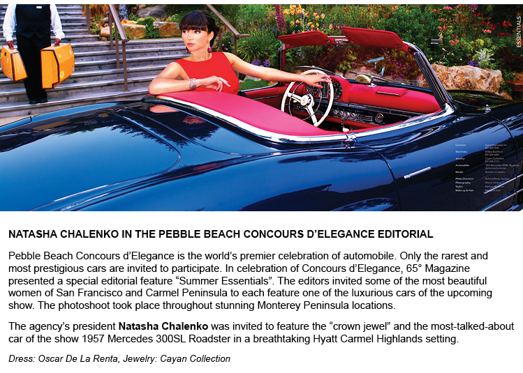 Natasha Chalenko in the Pebble Beach Concours d'Elegance editorial