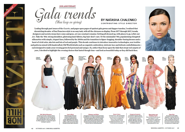 Gala Trends by Natasha Chalenko for Nob Hill Gazette