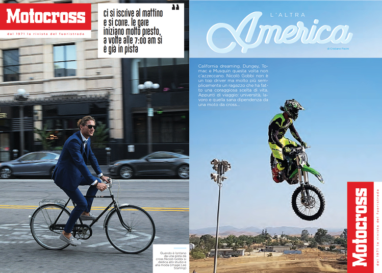 Nico Gobbi in MOTOSROSS MAGAZINE (Italy)
